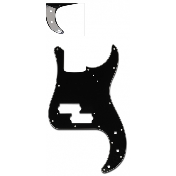 Mica  Negro tres capas  Bajo Precision Bass
