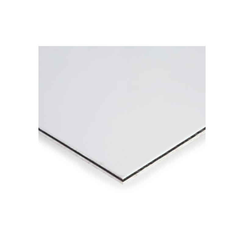 Placa Rectangular Blanca Brillante para Diseñar Micas