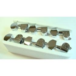 Maquinaria Schaller Mini M-6  Cromada para Guitarra 6 en línea
